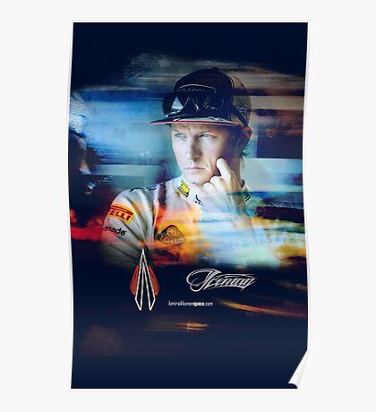 Iceman Stare - Poster/cards - Kimi Raikkonen Poster
