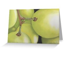 White Grapes Print Greeting Card
