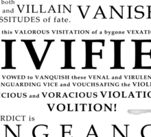 V For Vendetta Pentalogue Sticker