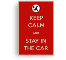 Stay In The Car Canvas Print
