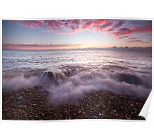 Just before sunrise on Eastbourne beach Poster