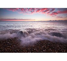 Just before sunrise on Eastbourne beach Photographic Print
