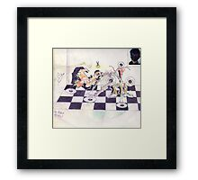 Photography, graffiti, and  graphics!....GERONIMO!..PLAYS CHESS! Framed Print