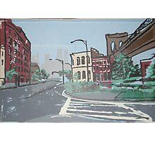 DUMBO,Brooklyn,  9/11 memorial silkscreen Photographic Print