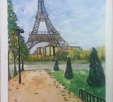 Eiffel Tower, Paris France  by Caroline  Hajjar Duggan
