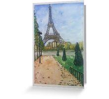 Eiffel Tower, Paris France  Greeting Card