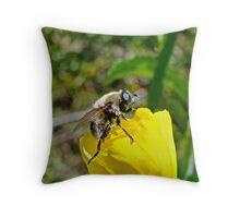 Bee Mimic on Primrose Throw Pillow