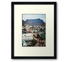 Table Mountain and lego man Framed Print