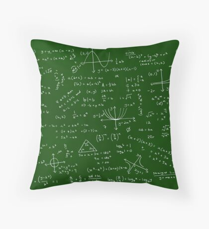 Algebra Math Sheet Throw Pillow