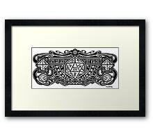 Dice Deco D20 Framed Print