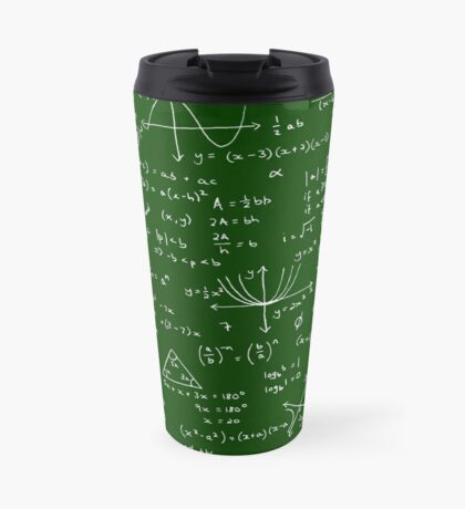 Algebra Math Sheet Travel Mug