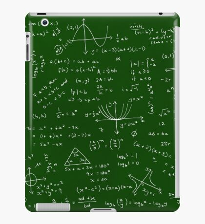 Algebra Math Sheet iPad Case/Skin