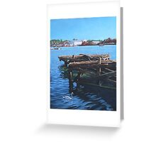 Southampton Northam River Itchen old jetty Greeting Card
