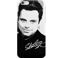 Sebastian Stan B&W Cutouts W/Signature iPhone Case/Skin