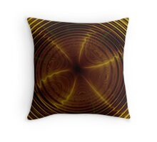 golden psychedelic Throw Pillow