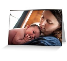 A Mother's Look of Love Greeting Card