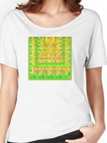 Wild Orange Blocks and Dots Women's Relaxed Fit T-Shirt