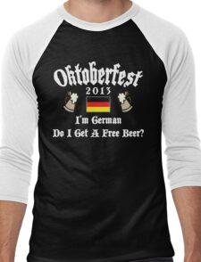 Oktoberfest 2013 German Free Beer? Men's Baseball ¾ T-Shirt
