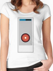 Hal 9000 Minimalist Monkey Women's Fitted Scoop T-Shirt