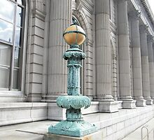 Classic Lamp Post, Jersey City Post Office, Jersey City, New Jersey by lenspiro