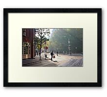 Skateboard Commuter Framed Print