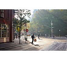 Skateboard Commuter Photographic Print