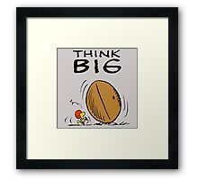 Woodstock Peanuts Think Big Framed Print