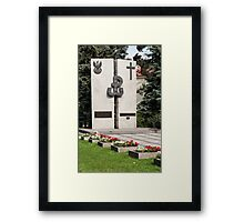 Polish memorial. Framed Print