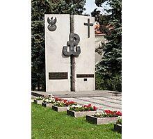 Polish memorial. Photographic Print