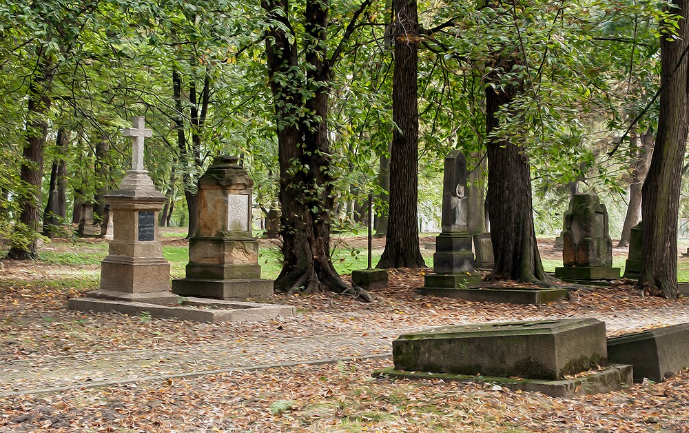 Cemetery in autumn. by FER737NG