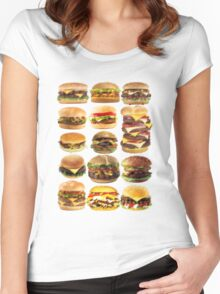 Cheese buger Women's Fitted Scoop T-Shirt