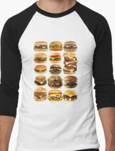 Cheese buger Men's Baseball ¾ T-Shirt