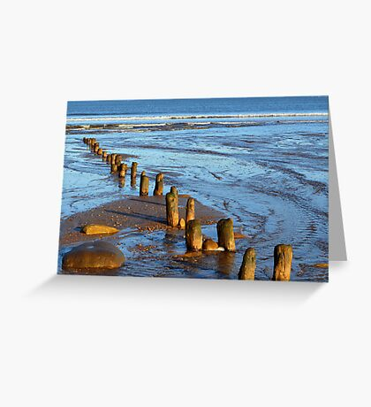 Worn away by the sea Greeting Card