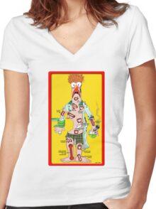 Beaker Operation Women's Fitted V-Neck T-Shirt