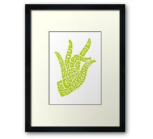 heart in hand in bright yellow lime Framed Print