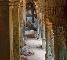 Cambodia. Angkor Thom. Ancient Gallery. by vadim19