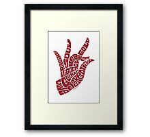 heart in hand in warm red Framed Print