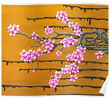 October Cherry Blossoms Poster