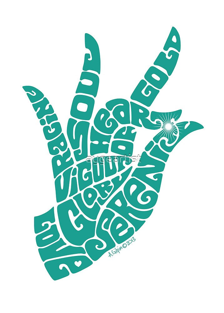 heart in hand in turquoise by aygeartist