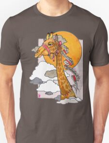 How's the weather up there? - tall giraffe shirt T-Shirt