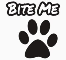 Bite Me Hoodie [Black on White] by NicksChick