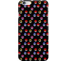 Pokeball Parade in Black iPhone Case/Skin