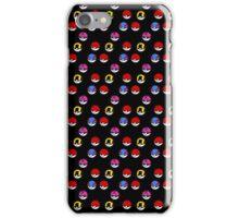 Pokeball Parade in Black iPhone Case/Skin