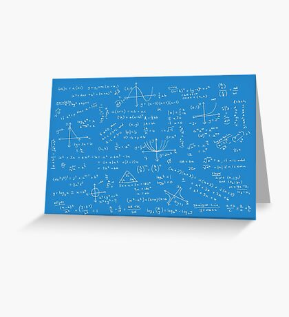 Algebra Math Sheet 2 Greeting Card