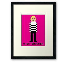 8-Bit Gaultier Framed Print