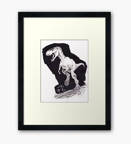 Sprinting Gorgosaurus libratus Framed Print