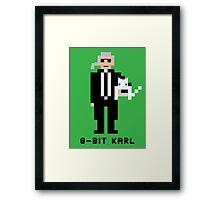 8-Bit Karl Framed Print