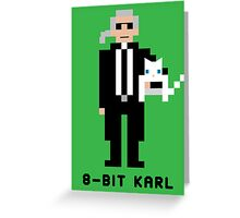 8-Bit Karl Greeting Card