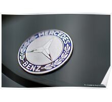 Mercedes Benz badge Poster