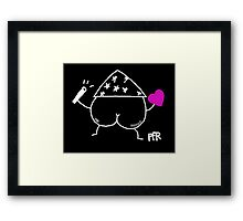 The Butt Wizard Framed Print